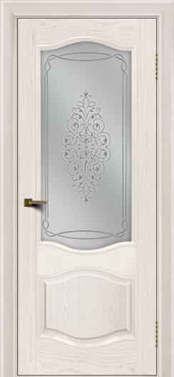 Двери ЛайнДор София ясень жемчуг тон 27 стекло Вива