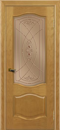 Двери ЛайнДор София ясень тон 24 стекло Фреза бронза