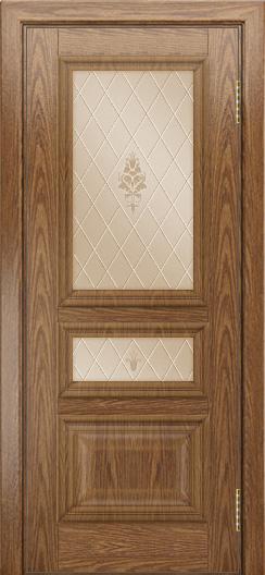 Двери ЛайнДор Агата тон 45 стекло Лилия бронза