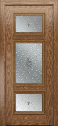 Двери ЛайнДор Афина тон 45 стекло Лилия