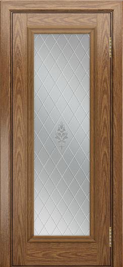Двери ЛайнДор Валенсия тон 45 стекло Лилия