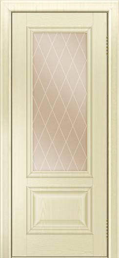 Двери ЛайнДор Виолетта тон 42 стекло Лондон бронза