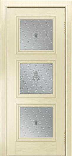 Двери ЛайнДор Грация тон 42 стекло Лилия
