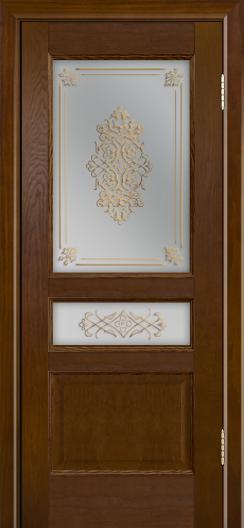 Двери ЛайнДор Калина-К тон 30 стекло Дамаск бронза 2