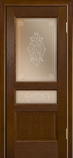 Двери ЛайнДор Калина-К тон 30 стекло Дамаск бронза 3