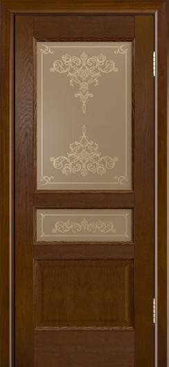 Двери ЛайнДор Калина-К тон 30 стекло Лира шелкография