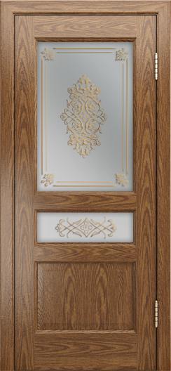 Двери ЛайнДор Калина-К тон 45 стекло Дамаск бронза 2