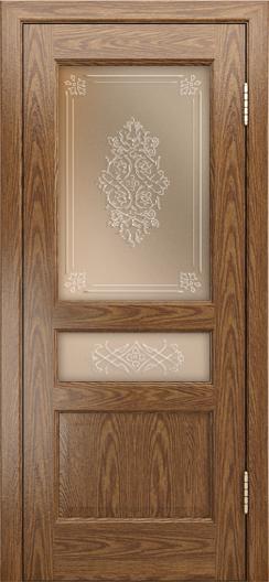 Двери ЛайнДор Калина-К тон 45 стекло Дамаск бронза 3