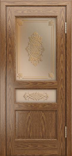 Двери ЛайнДор Калина-К тон 45 стекло Дамаск бронза