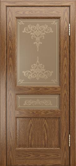 Двери ЛайнДор Калина-К тон 45 стекло Лира шелкография