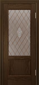 Двери ЛайнДор Кантри-К тон 35 стекло Лилия-СТ