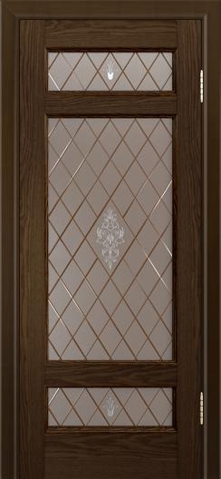 Двери ЛайнДор Мишель-К тон 35 стекло Лилия-СТ