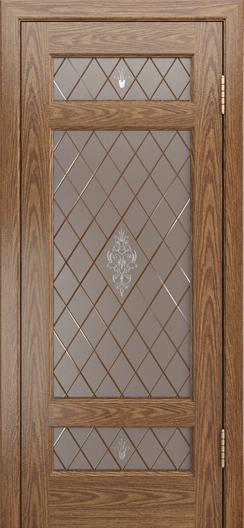 Двери ЛайнДор Мишель-К тон 45 стекло Лилия-СТ