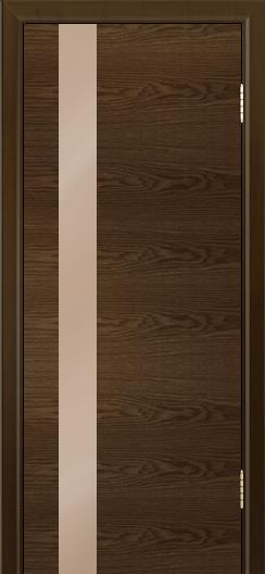 Двери Лайндор Камелия К5 тон 35 стекло Серо-коричневое
