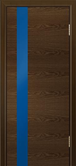 Двери Лайндор Камелия К5 тон 35 стекло Синее