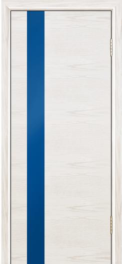 Двери Лайндор Камелия К5 тон 38 стекло Синее