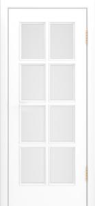 Двери Лайндор Аврора эмаль белая стекло белое