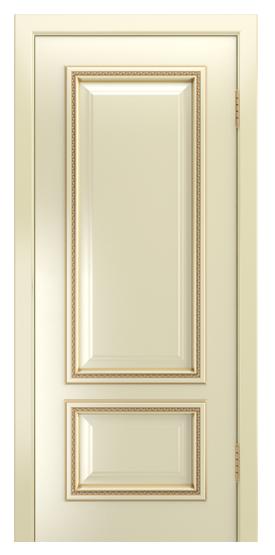 Двери Лайндор Виолетта-Д эмаль бисквит золотая патина