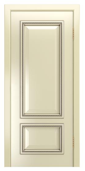 Двери Лайндор Виолетта-Д эмаль бисквит серебряная патина