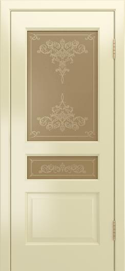 Двери Лайндор Калина К эмаль бесквит стекло Лира рис золото