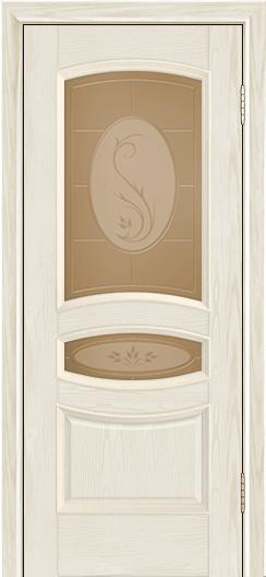 Дверь Лайндор Алина М тон 34 стекло Алина бронза