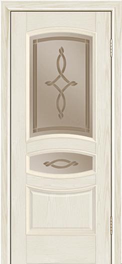 Дверь Лайндор Алина М тон 34 стекло Неаполь бронза
