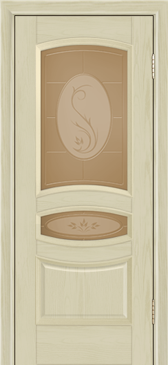 Дверь Лайндор Алина М тон 36 стекло Алина бронза