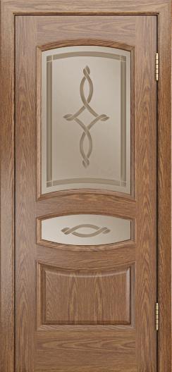 Дверь Лайндор Алина М тон 45 стекло Неаполь бронза