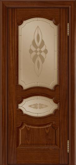 Дверь Лайндор Марта тон 10 стекло Византия бронза