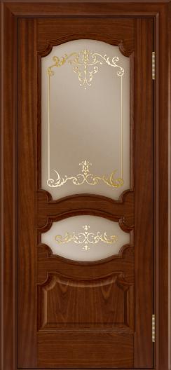 Дверь Лайндор Марта тон 10 стекло Элегия бронза наливка золото