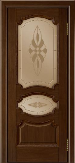 Дверь Лайндор Марта тон 2 стекло Византия бронза