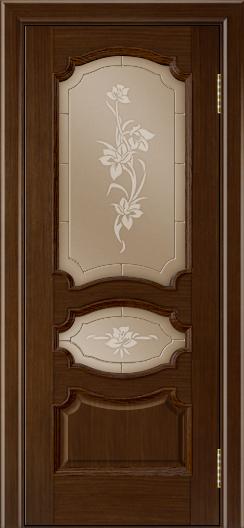 Дверь Лайндор Марта тон 2 стекло Рим бронза