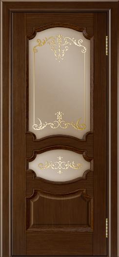 Дверь Лайндор Марта тон 2 стекло Элегия бронза наливка золото