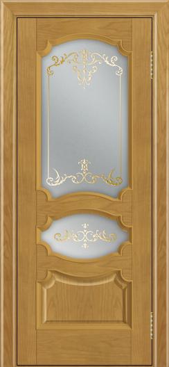 Дверь Лайндор Марта тон 24 стекло Элегия светлое наливка золото