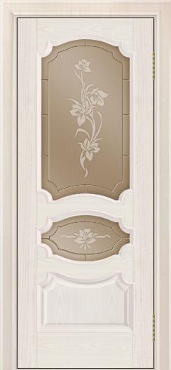 Дверь Лайндор Марта тон 27 стекло Рим бронза