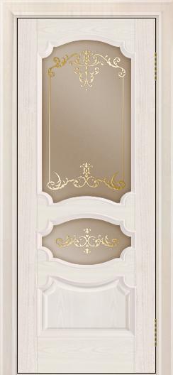 Дверь Лайндор Марта тон 27 стекло Элегия бронза наливка золото
