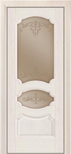 Дверь Лайндор Марта тон 27 стекло Элегия бронза наливка прозрачная