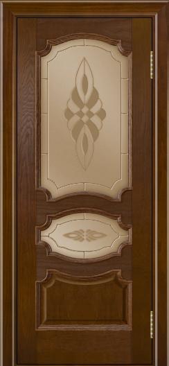 Дверь Лайндор Марта тон 30 стекло Византия бронза