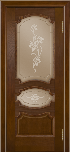 Дверь Лайндор Марта тон 30 стекло Рим бронза