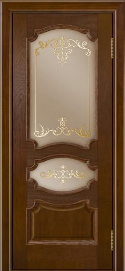 Дверь Лайндор Марта тон 30 стекло Элегия бронза наливка золото