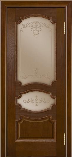 Дверь Лайндор Марта тон 30 стекло Элегия бронза наливка прозрачная