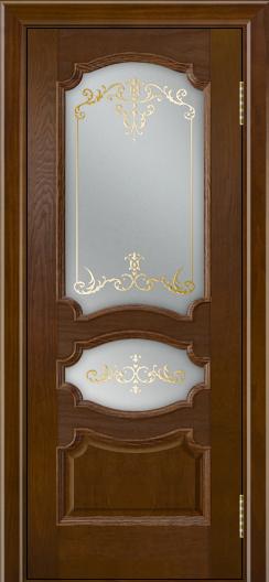 Дверь Лайндор Марта тон 30 стекло Элегия светлое наливка золото
