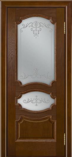 Дверь Лайндор Марта тон 30 стекло Элегия светлое наливка прозрачная