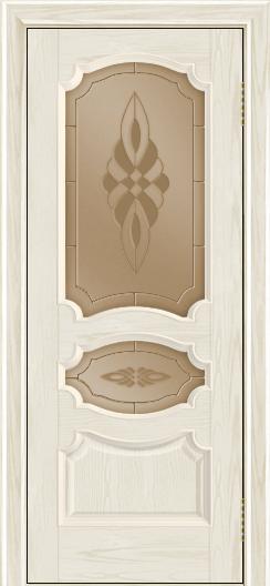 Дверь Лайндор Марта тон 34 стекло Византия бронза