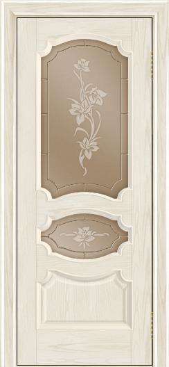 Дверь Лайндор Марта тон 34 стекло Рим бронза