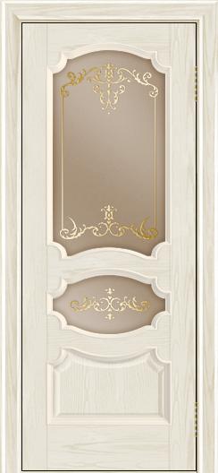 Дверь Лайндор Марта тон 34 стекло Элегия бронза наливка золото