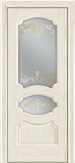 Дверь Лайндор Марта тон 34 стекло Элегия светлое наливка золото