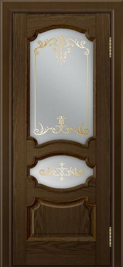 Дверь Лайндор Марта тон 35 стекло Элегия светлое наливка золото