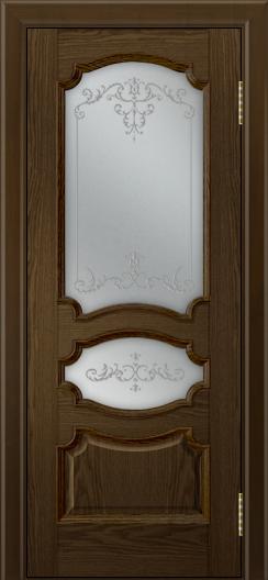 Дверь Лайндор Марта тон 35 стекло Элегия светлое наливка прозрачная