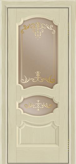 Дверь Лайндор Марта тон 36 стекло Элегия бронза наливка золото